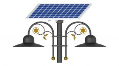 15W LED Double Solar Park & Pathway Lighting