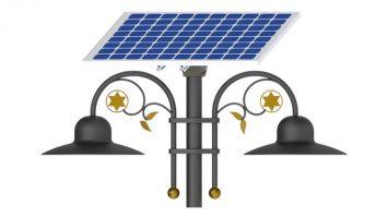 15W LED Double Solar Park & Pathway Lighting