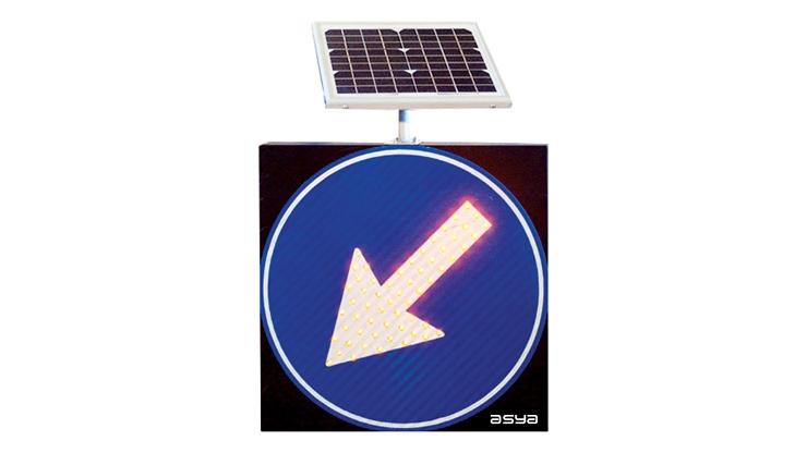 Solar LED Keep Left Traffic Sign