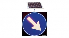 Solar LED Keep Right Traffic Sign