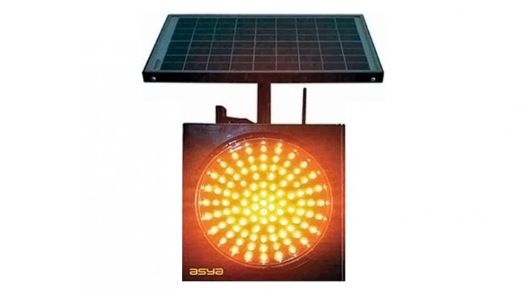 12-Inch (300 mm) RF Wireless Synchronized Solar LED Flasher