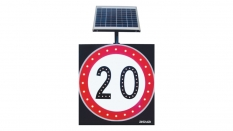 Solar LED Speed Limit Sign