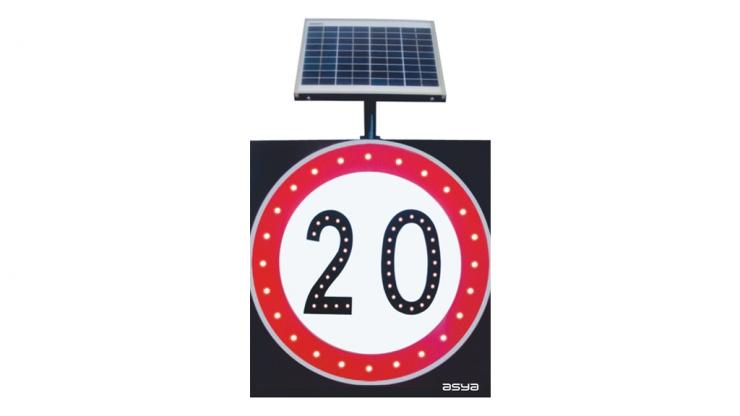 Solar LED Speed Limit Sign