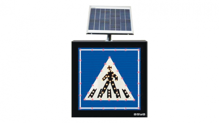 Solar Pedestrian Crossing Sign