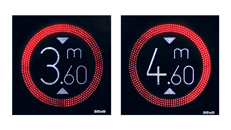 LED Height Limit Sign