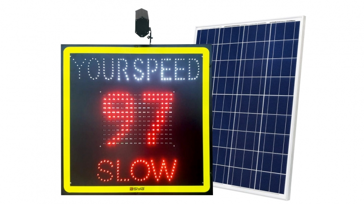 Solar Radar Speed Sign