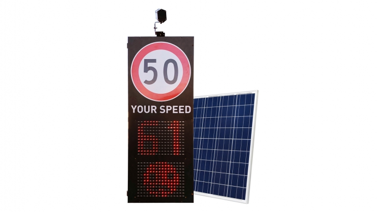 Solar Your Speed Radar with Face Emoji