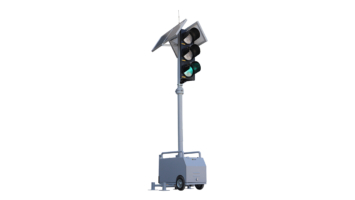 Portable Temporary Traffic Signal Light