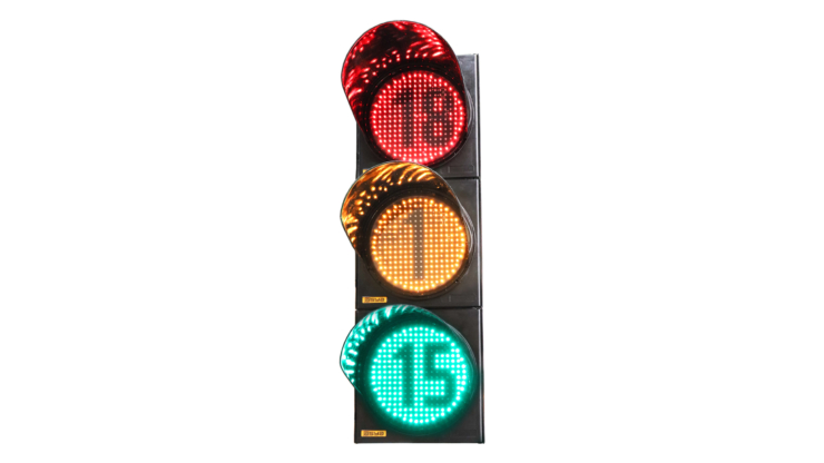 12-Inch (300 mm) LED Traffic Signal Light with Countdown Timer