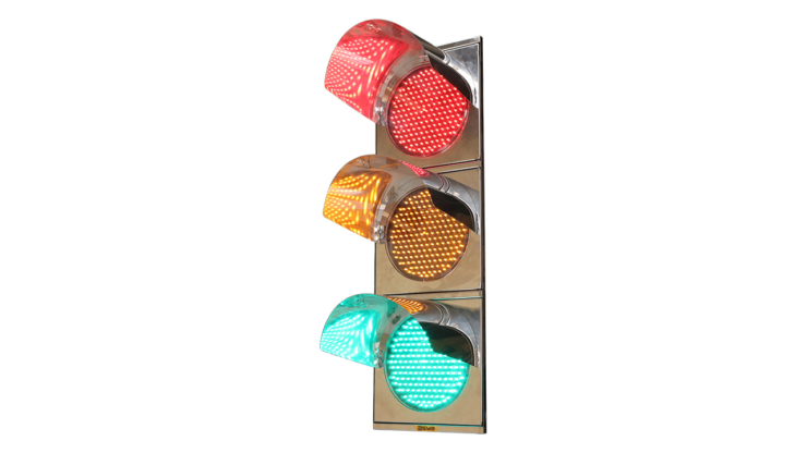 12-Inch (300 mm) Stainless Steel LED Traffic Signal Light